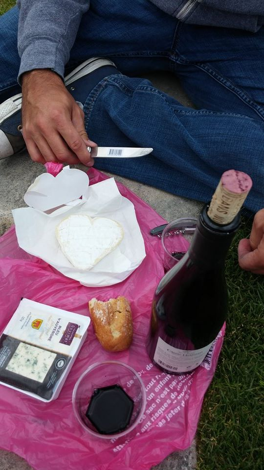 Heart Shaped Cheese Pinic in the Park