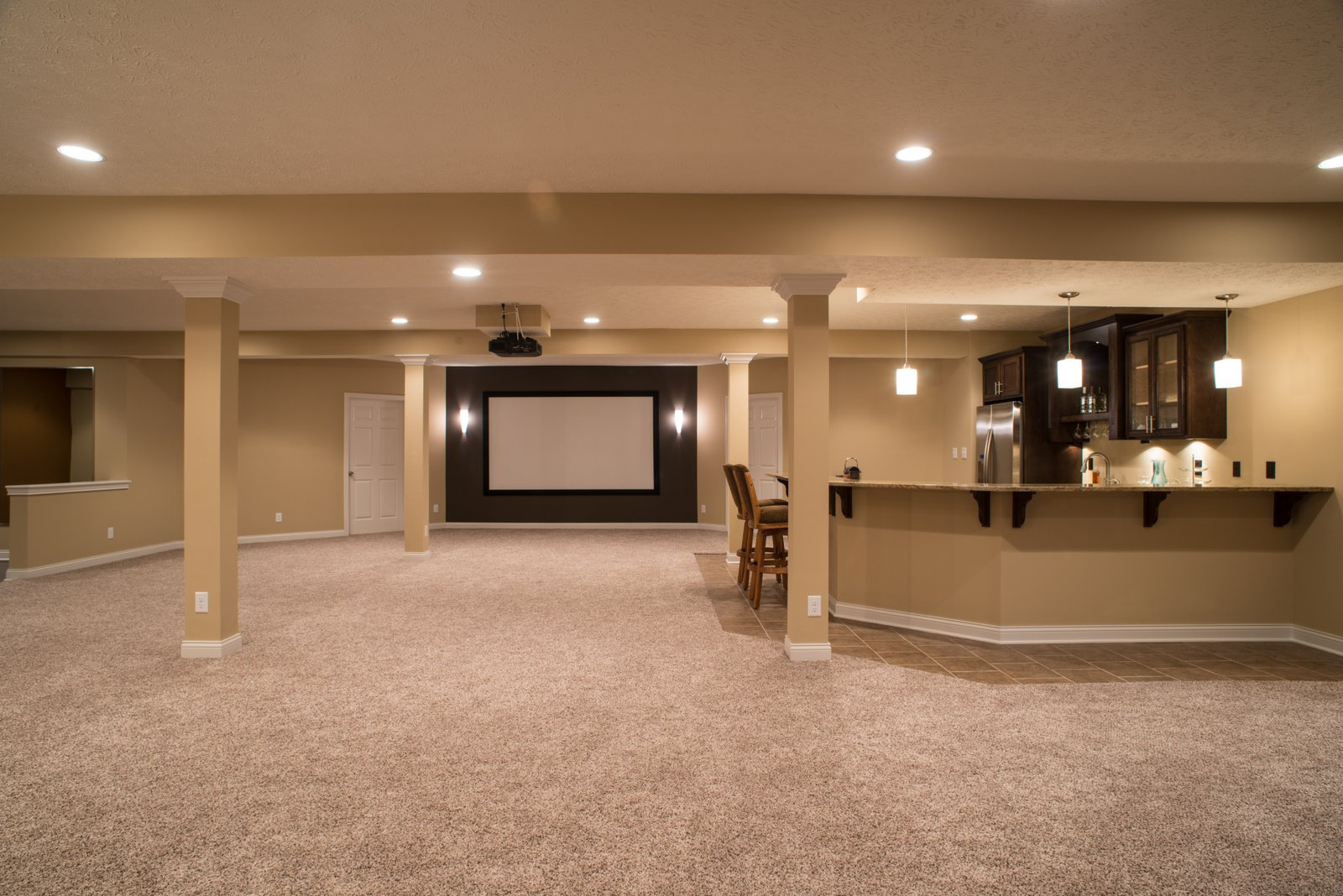 Manteo Court Basement Remodel Indianapolis Remodeling
