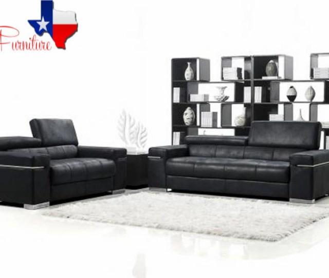 Black Italian Design Modern Sofa  Jpg