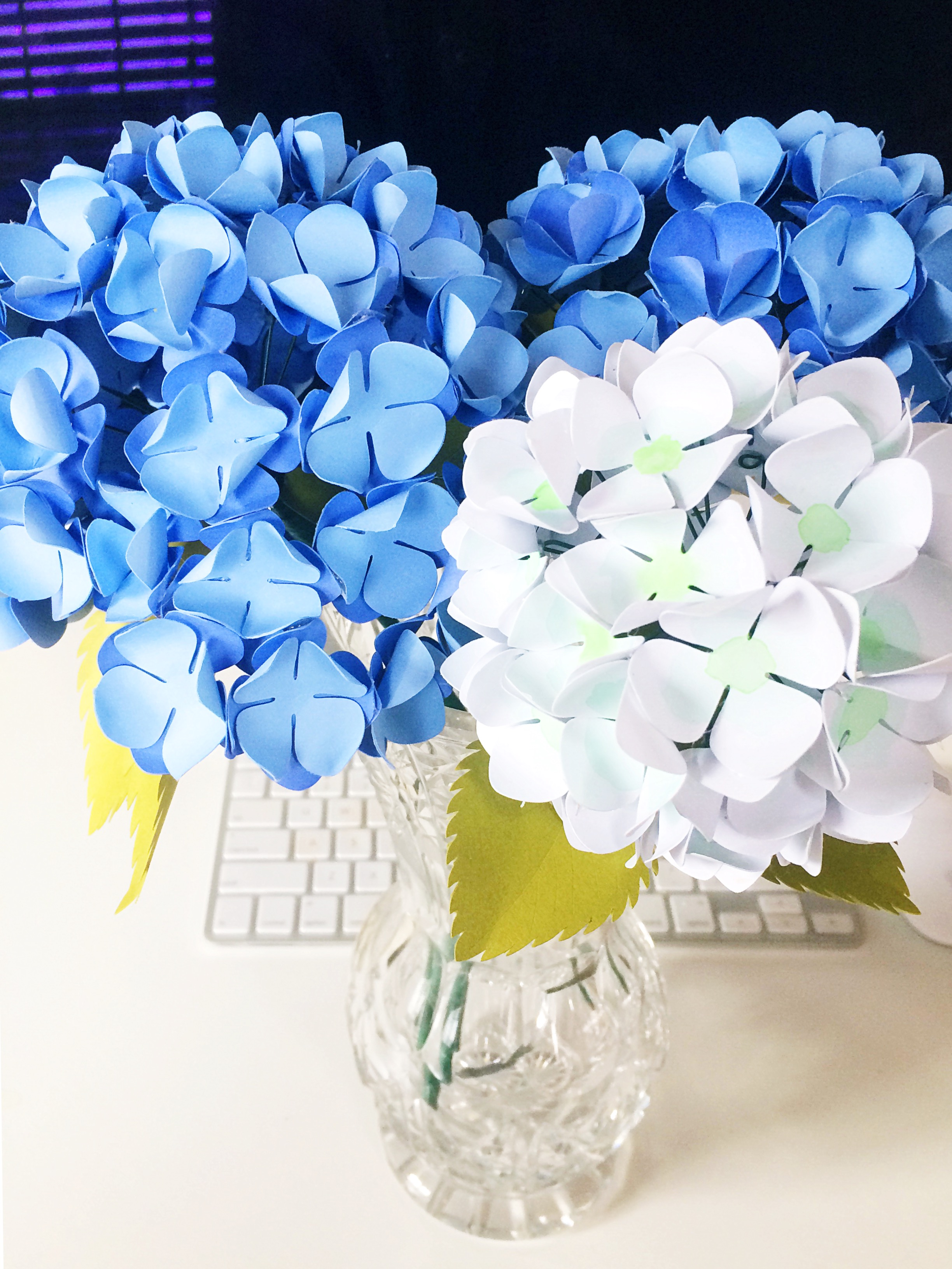 Paper Hydrangeas Tutorial Only Just Becoming