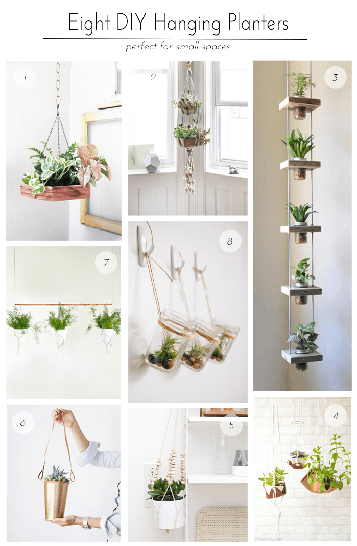 Taking Things Vertical — Wellnesting | Creating a Happy ... on Hanging Plant Pots Indoor  id=19431