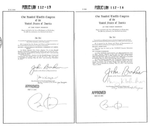 On the left is the real deal, on the right is the autopen signature.
