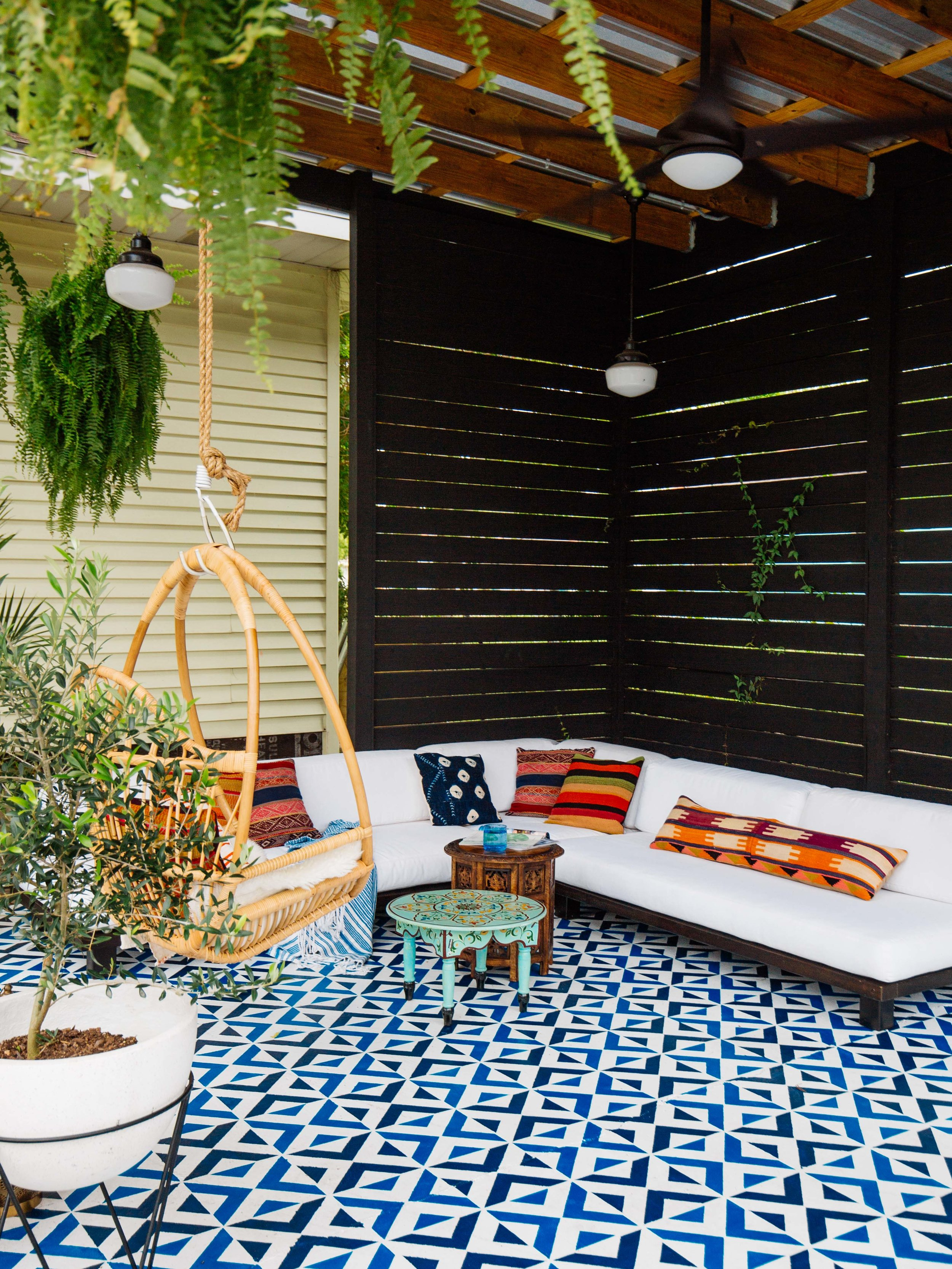 Patio DIY • Painted Floor Tiles — OLD BRAND NEW on Diy Concrete Patio Ideas id=60047