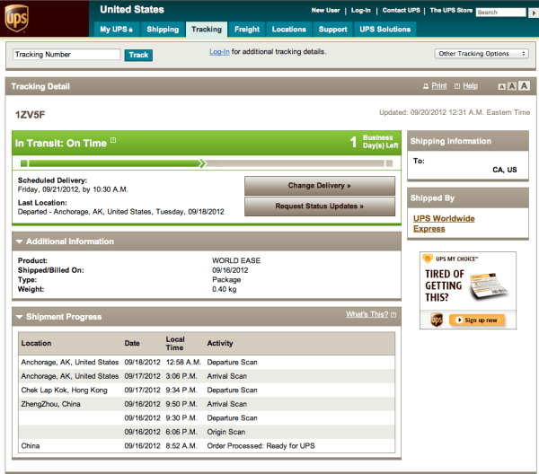 Tips Track your iPhone 5 with out a UPS tracking number