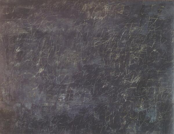What the interior of our minds, what 'thinking', might look like. Cy Twombly. (via Alain de Botton)