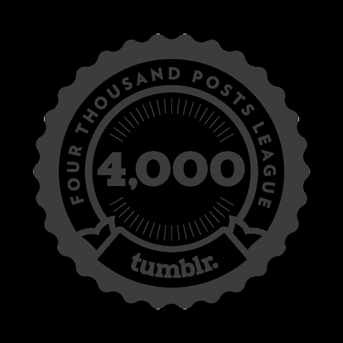 4,000 posts! Wow, this is my 4,000th post on Tumblr. I love getting all weird and creative in this place. I post something daily in attempt to be consistent and connect the dots. Tumbling is thinking.