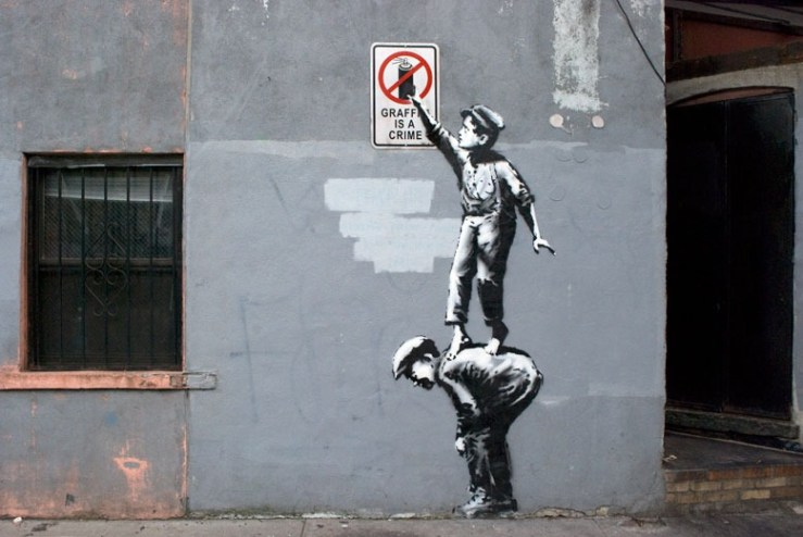 "Banksy hits NYC with an art tour:  ""The street is in play"""