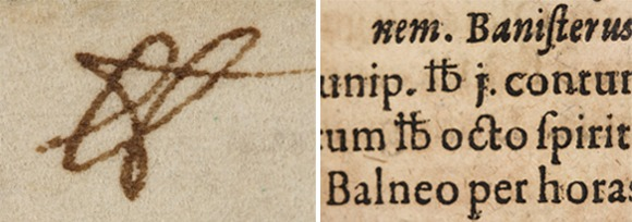 """And though printers commonly cast this barred abbreviation as a single character, it was the rushed pens of scribes that eventually produced the symbol's modern form: hurriedly dashed off again and again, the barred """"lb"""" mutated into the abstract #. The symbol shown here on the left, a barred """"lb"""" rendered in Isaac Newton's elegant scrawl, is a missing link, a now-extinct ancestor of the # that bridges the gap between the symbol's Latin origins and its familiar modern form. The hashtag originated in the 14th century."""