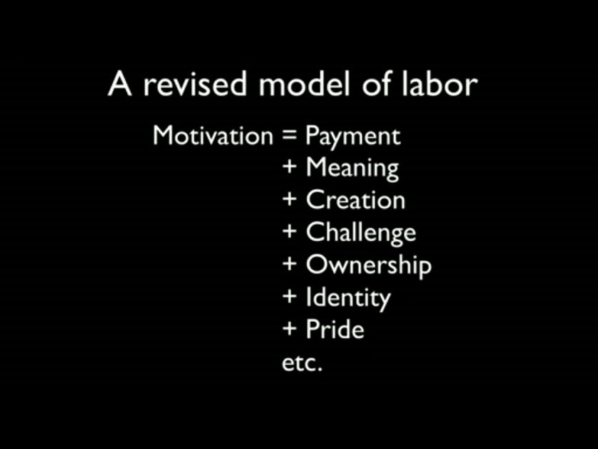 """Never reject an effort since that hard work and initiative could be easily connected to something else. The key to keeping people and yourself motivated about work is the progression of the some of the attributes presented inDan Ariely's Ted Video: What makes us feel good about our work? John Wooden said it best:  """"Cervantes said thejourney'sbetterthan the end. Practices, to me, were thejourney."""""""