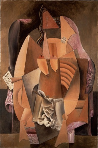 Woman in an Armchair (Eva) by Pablo Picasso, 1913.