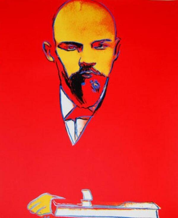 Warhol portrait of Lenin (via Zach Seward)