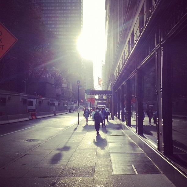 Fall Manhattanhenge (Taken with Instagram at 589 Fifth Avenue)