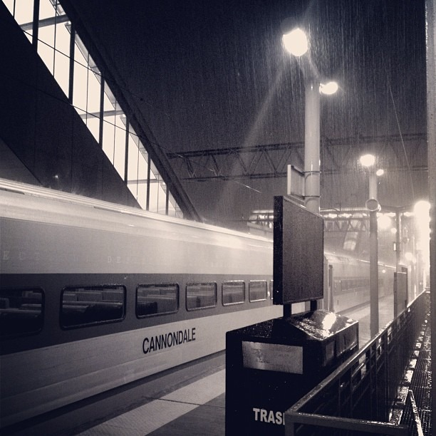 """""""The best thing one can do when it's raining is to let it rain."""" - Henry Wadsworth Longfellow (Taken with Instagram at Track 3 - Stamford Metro North Station)"""
