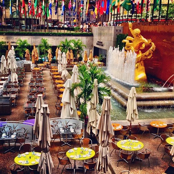 The Rock Dinner Set Up (Taken with Instagram at Rockefeller Center)