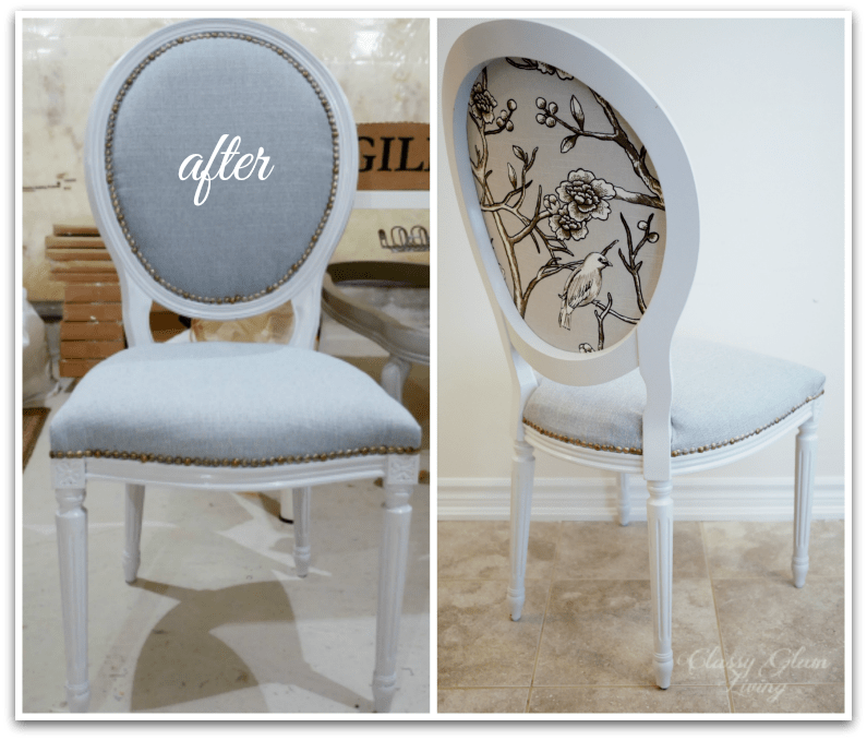 Reupholstering French Louis Chairs Classy Glam Living