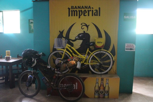 low and behold - the BANANA bike, comes with a 30-pack of beers!
