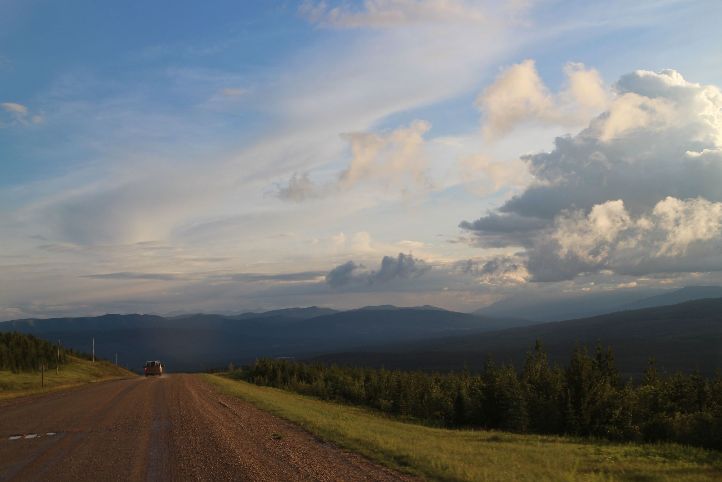 The big skies of Alberta and the big ridges of the Forestry Trunk Road