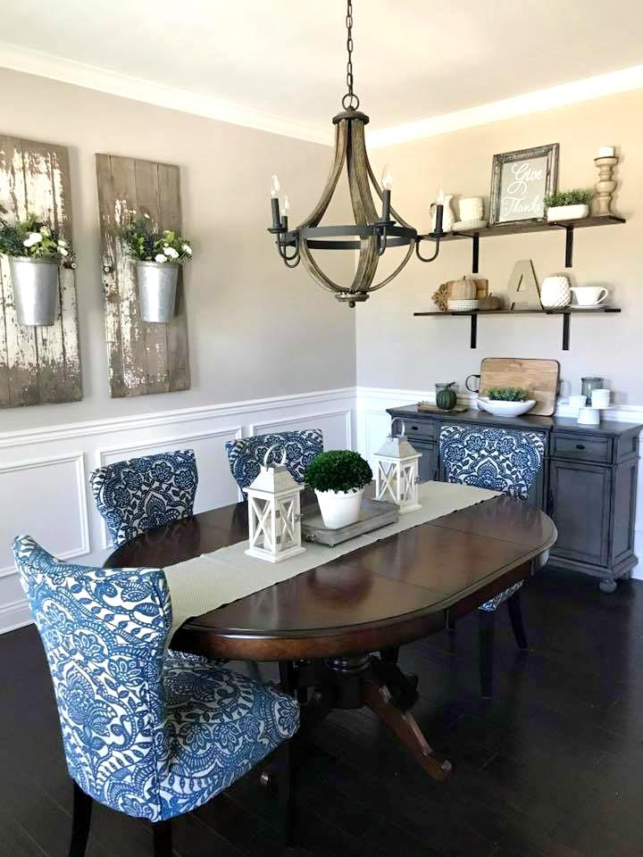 Elegant Farmhouse Dining Room Decorating — Gathered Living on Dining Room Curtains Farmhouse  id=32149