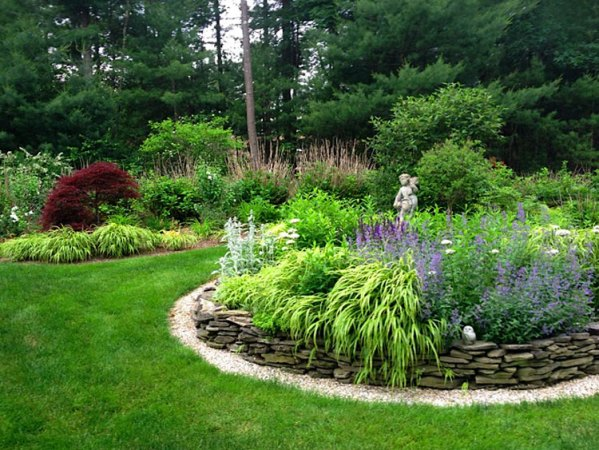 circular flower garden designs Garden Installation & Maintenance — Garden Designs by Kristen