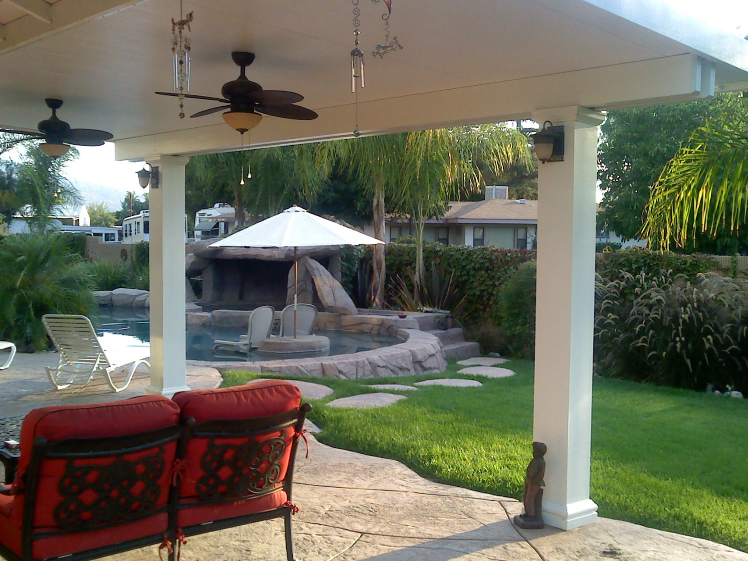 Covered Patio Designs   Custom Patio Covers   Shade Ideas ... on Ideas For Patio Covers  id=83804