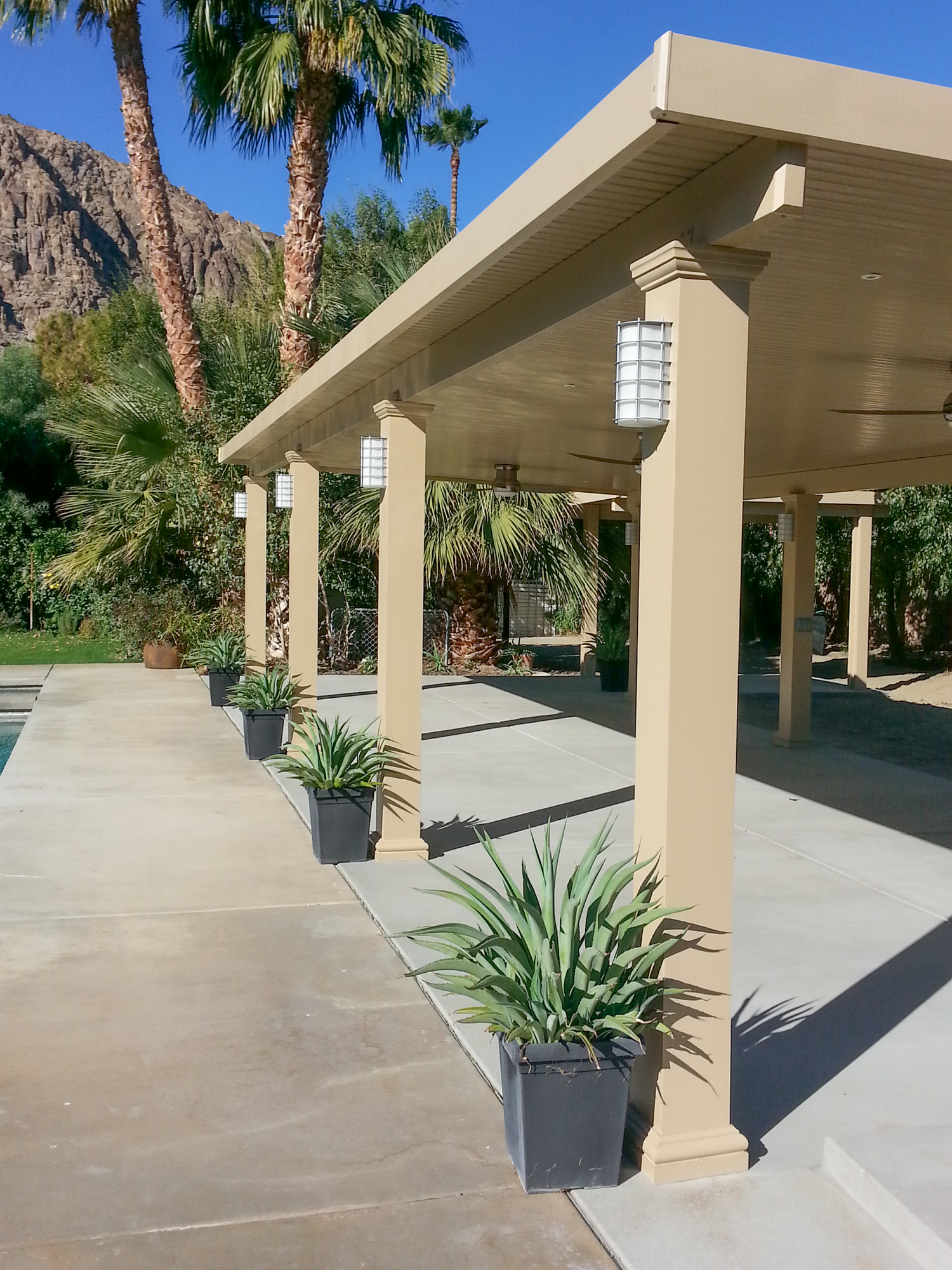 Patio Cover Designs| Patio Ideas | Valley Patios | Palm ... on Backyard Patio Cover Ideas  id=64225