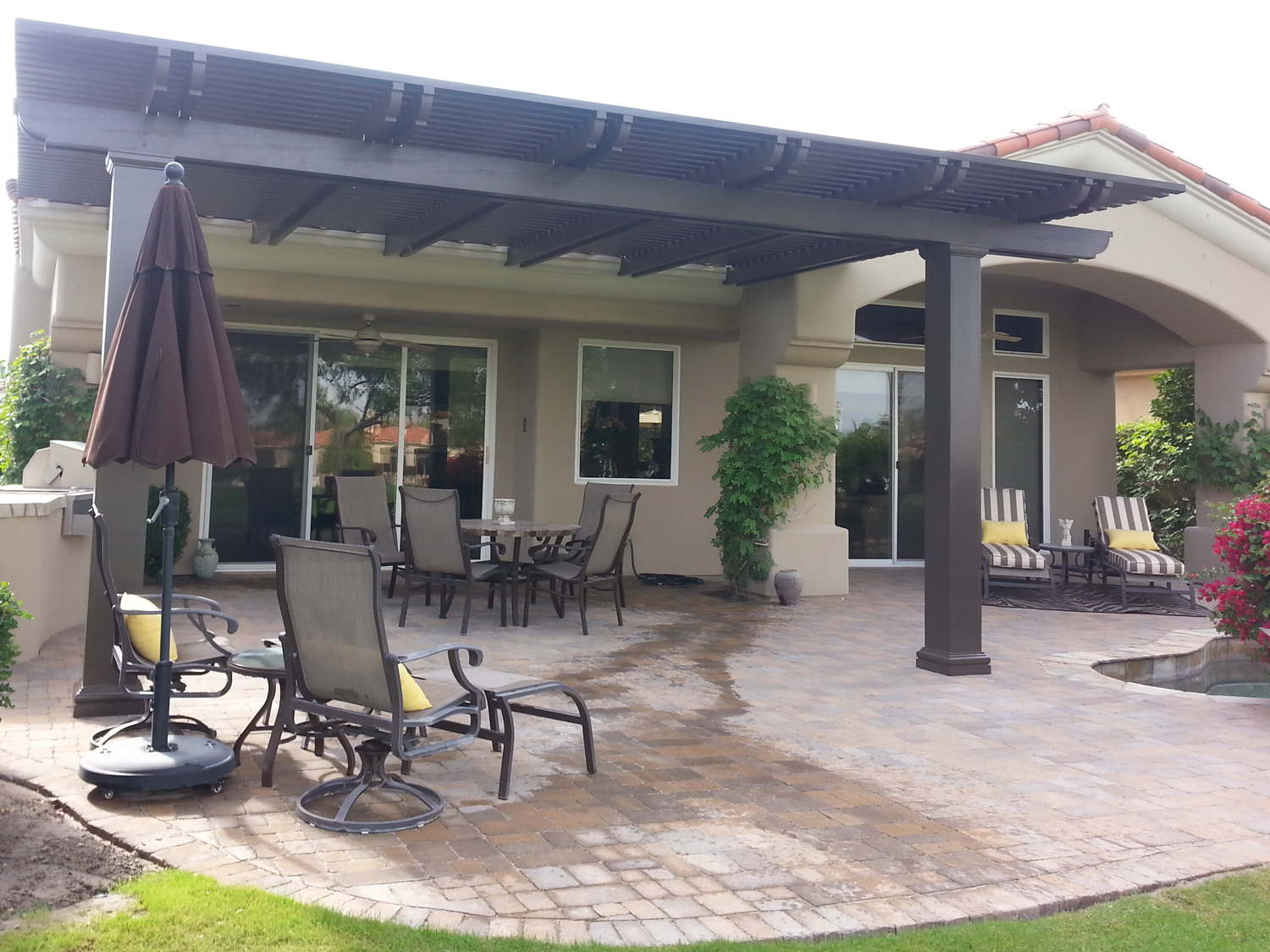 Weatherwood and Aluminum-Wood Patio Cover Products by ... on Backyard Patio Cover Ideas  id=33019