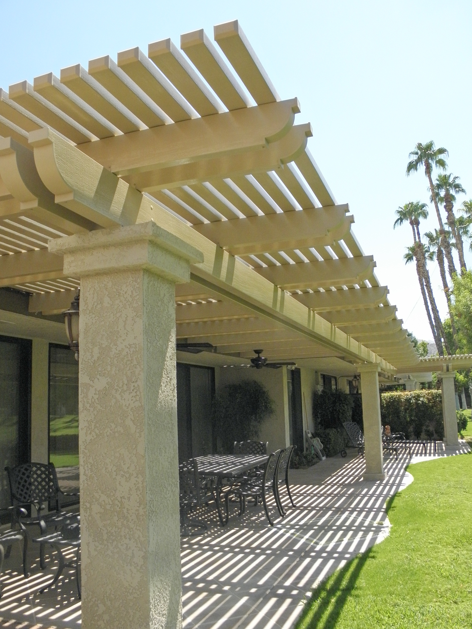 Weatherwood and Aluminum-Wood Patio Cover Products by ... on Patio Cover Ideas Wood id=97701