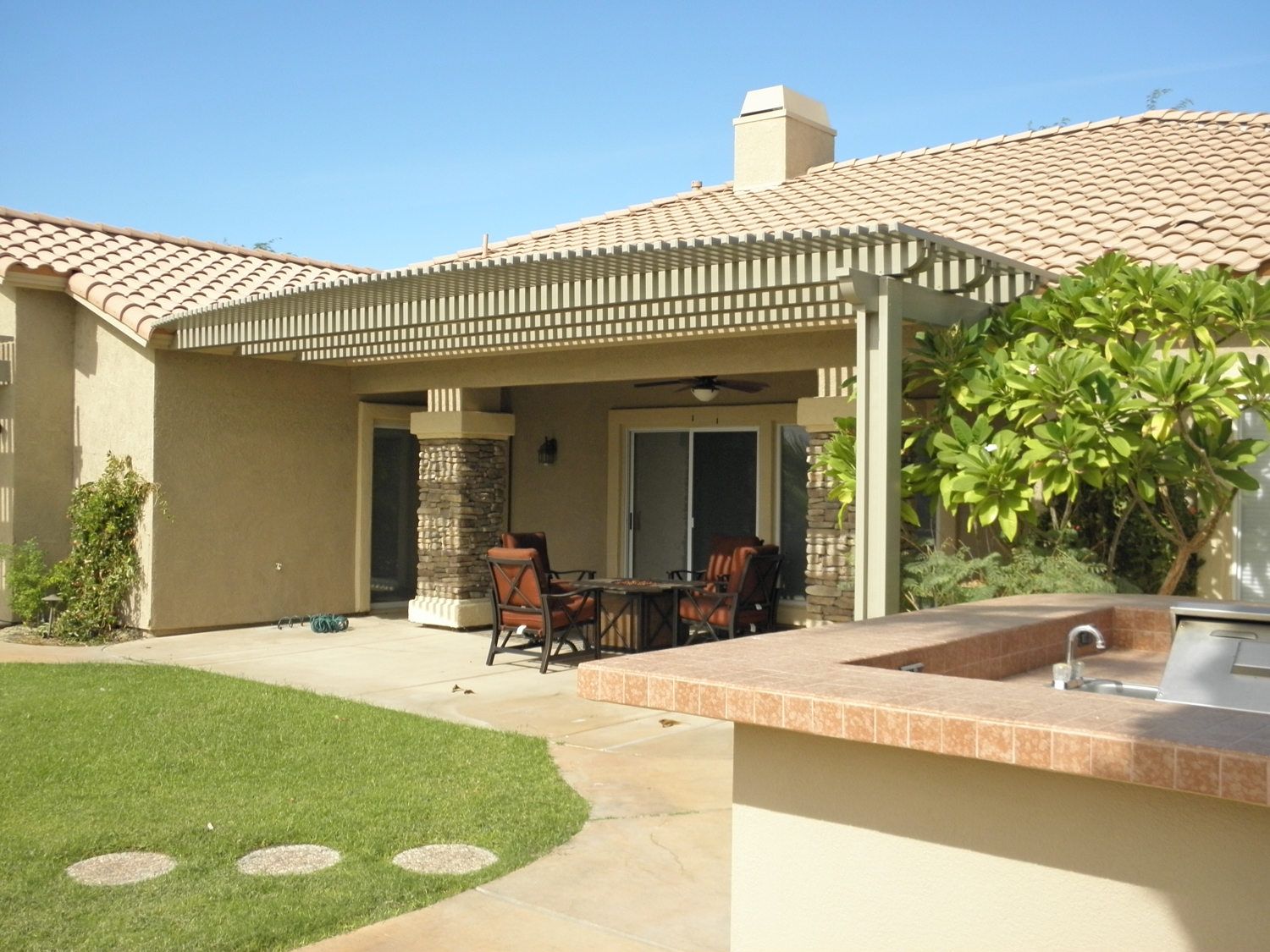 Weatherwood and Aluminum-Wood Patio Cover Products by ... on Patio Cover Ideas Wood id=75677