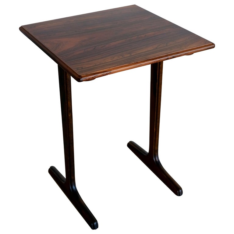 sold scandinavian rosewood side or end table flow modern