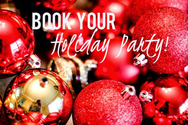 Book Your Holiday Party Today Special Promotion Available