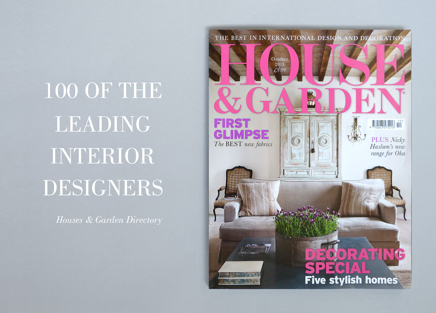 FEATURED IN HOUSE   GARDEN TOP 100 INTERIOR DESIGNERS     MARION LICHTIG