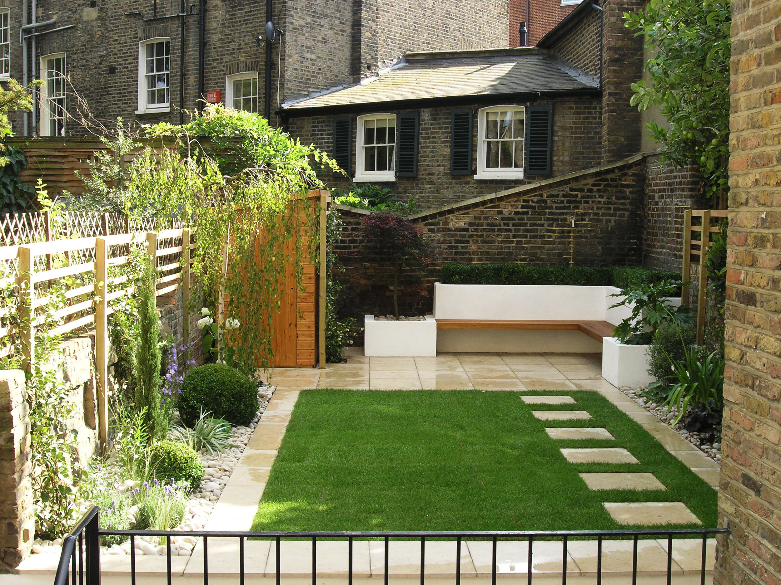 Canonbury garden — Living Gardens on Square Patio Designs  id=14433