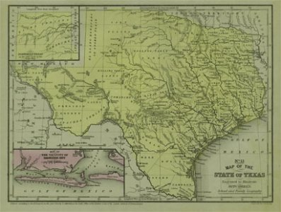 Mitchell 1852 Antique Map of Texas     Real Old Art   Authentic     Mitchell 1852 Antique Map of Texas  pastpresent 2271 2308651845