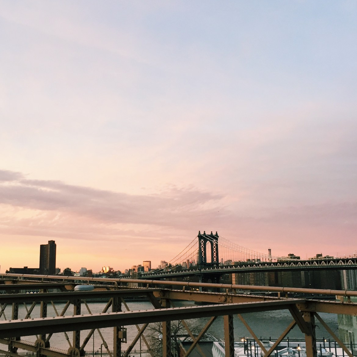 Sunset over Brooklyn Bridge. The highlight of my holiday...