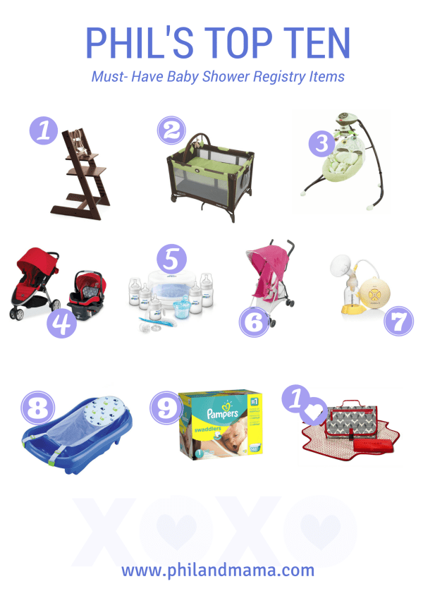 Top Ten Baby Shower Registry Must-Have Items for the ...
