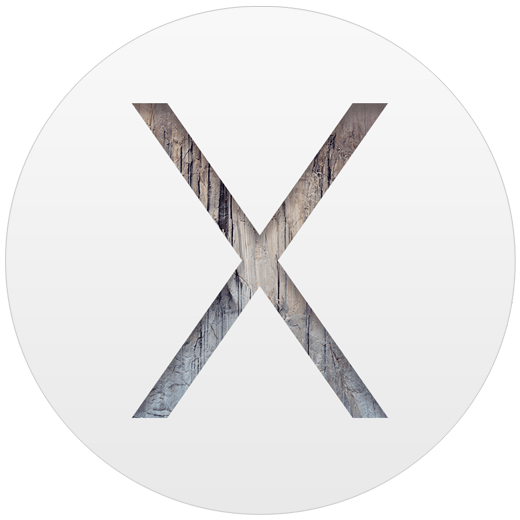 The logo of Mac OS 10.10