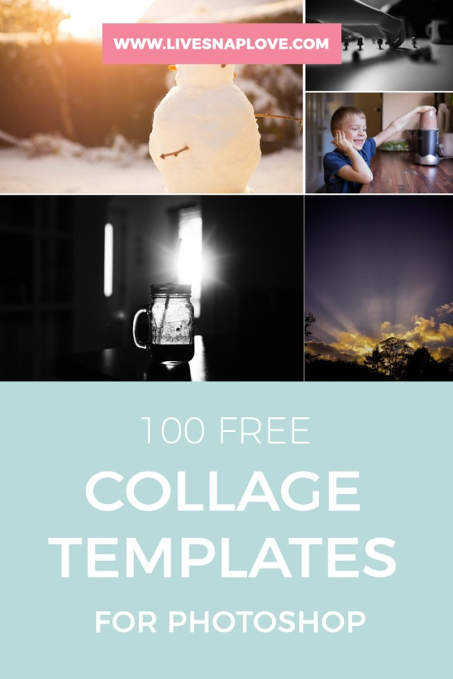 4 Photo Collage Template Photoshop - FREE DOWNLOAD