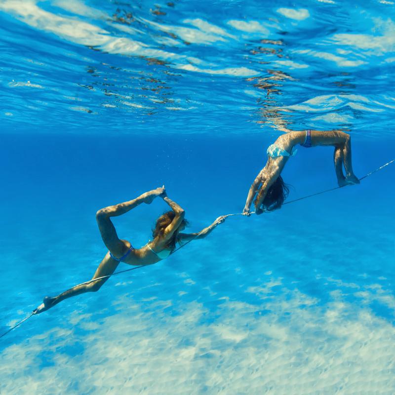 Underwater Yoga With Sjana Bahamas Girl