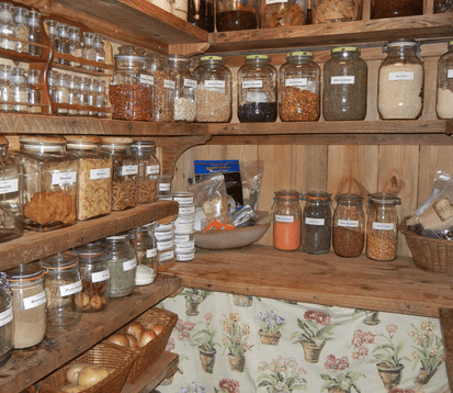 A well organized home pantry