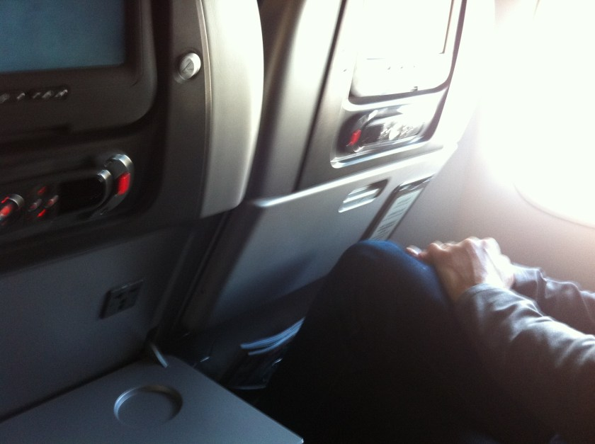 power outlet on a plane