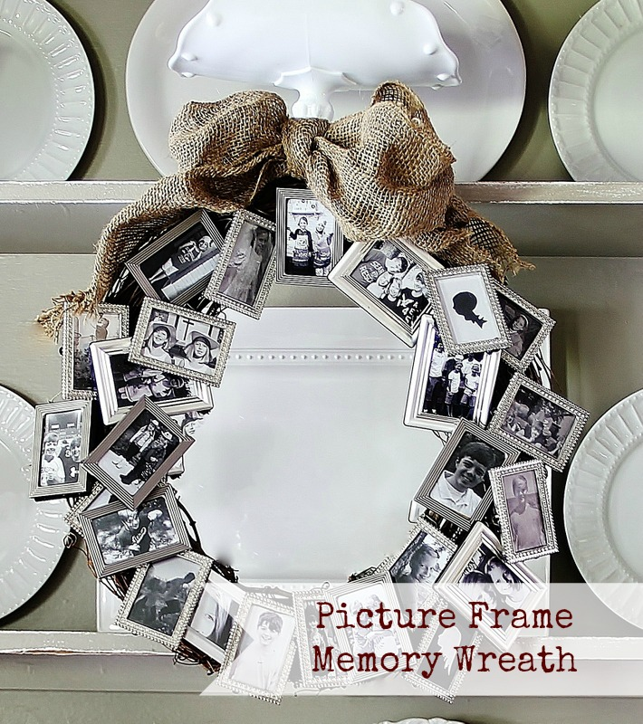 Picture Frame Memory Wreath- Infarrantly Creative