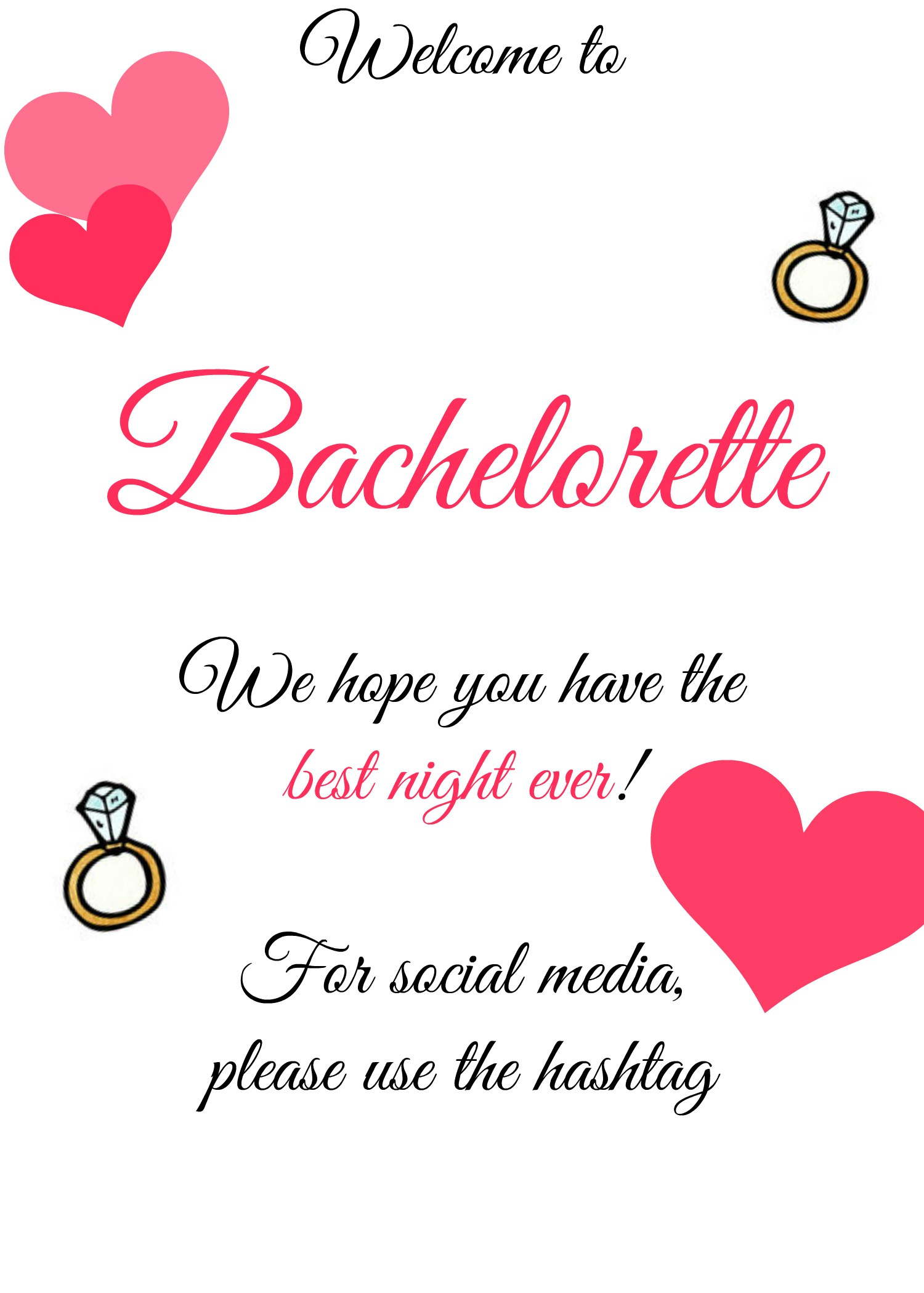 Free Bachelorette Bash Printable - customize and Print!