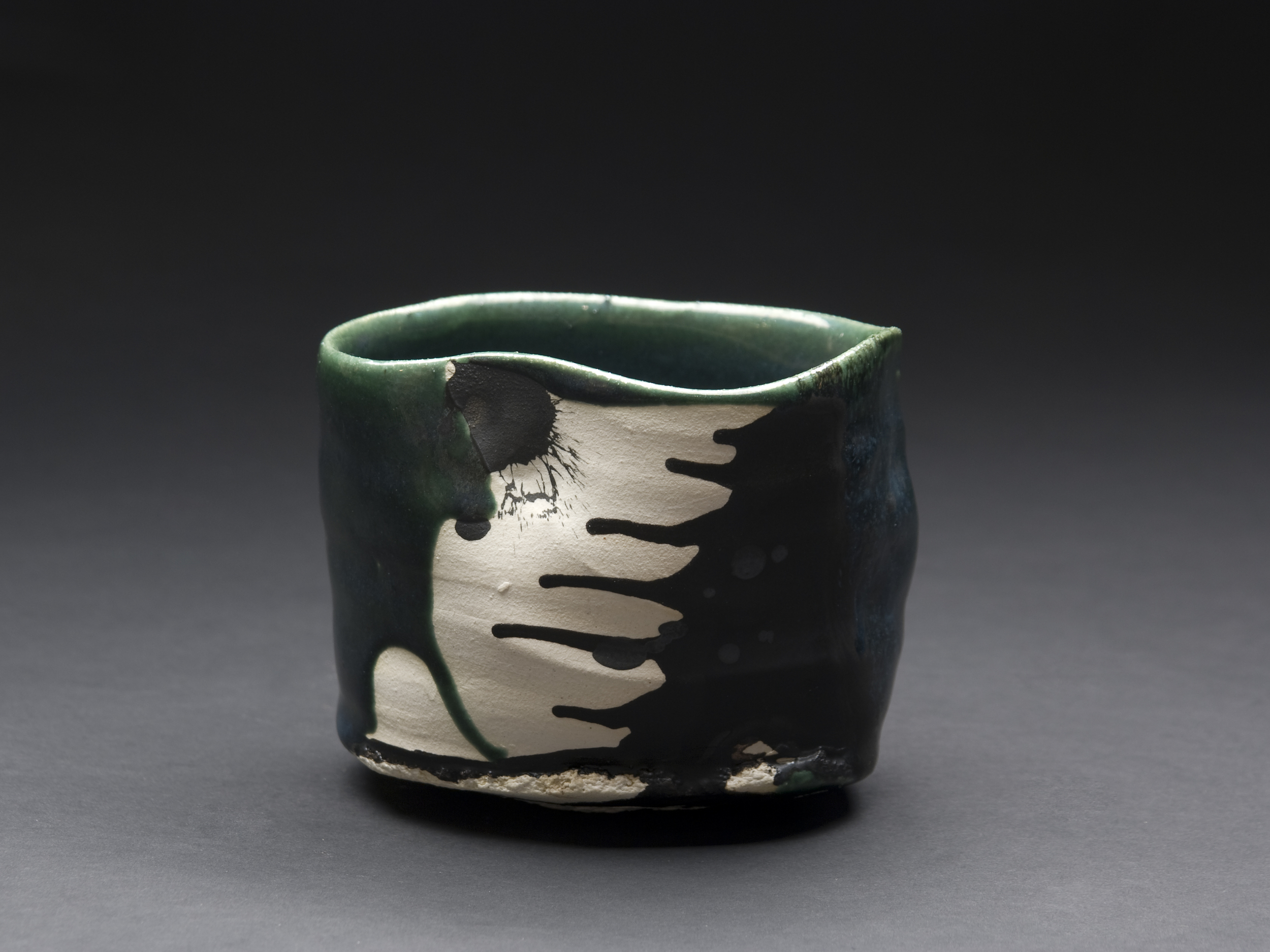 Robert Fornell Oribe Chawan , 2012 Clay, Oxidation fired to cone 7 8 x 11 x 11 inches / 20.3 x 27.9 x 27.9 cm / RFo 39
