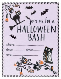 halloween party invitation printouts