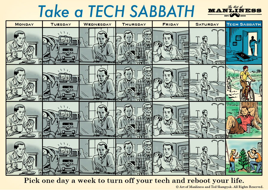 (via On the Seventh Day, We Unplug: How and Why to Take a Tech Sabbath | The Art of Manliness)
