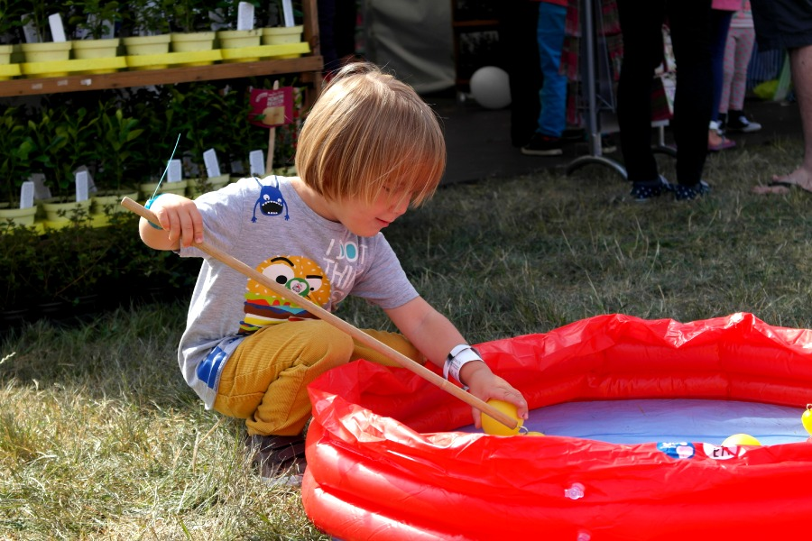 Child playing The Big Feastival 2013