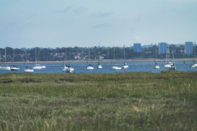 Looking across the Solent from Hythe, Hampshire