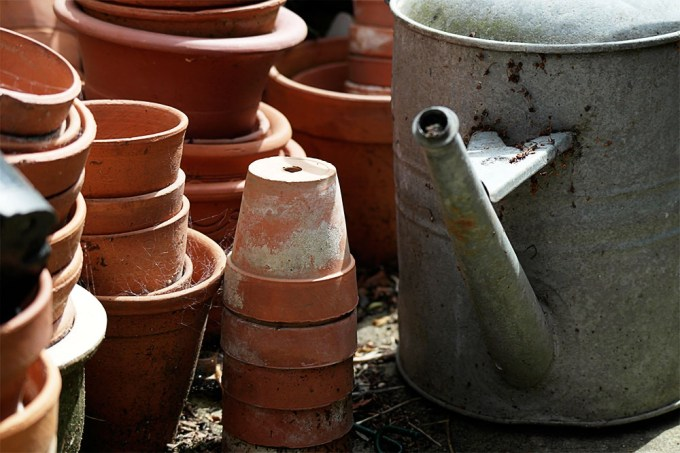 Watering Can & Plant Pots