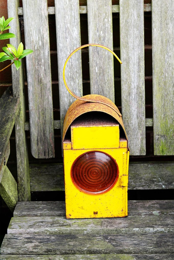 vintage road lamp (from a time when there were no'cones' or street lights in many places)