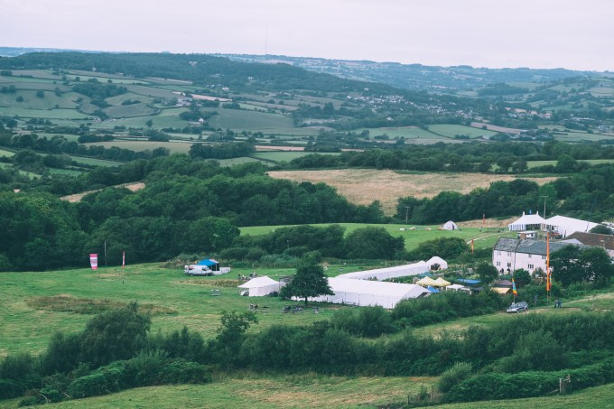 View of River Cottage Summer Fair from the Car Park